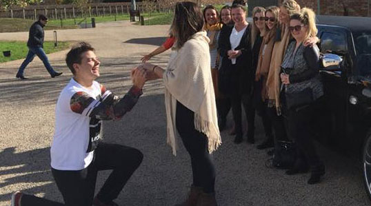 Affinity Limousines First Marriage Proposal